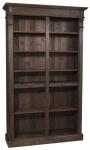 Casa Padrino Landhausstil Bücherschrank Dunkelbraun 119 x 39 x H. 197 cm - Landhausstil Wohnzimmer Regalschrank