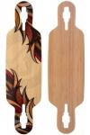 Fibretec Longboard Drop Through Deck S-Flex 960 - V-lam Bambus Longboard Profi Deck - Medium Flex