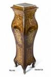 Casa Padrino Barock Säule mit Marmorbesatz 30 x 30 x H. 126 cm - Antik Stil
