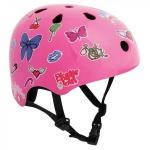 SFR Skateboard / Scooter / Inliner / BMX / Rollschuh Schutz Helm - Pink Sticker - Skateboard Schutzausrüstung