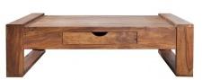 Casa Padrino Designer Massivholz Couchtisch Natur 100 x H. 30 cm - Salon Wohnzimmer Tisch
