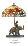 Handgefertigte Tiffany Dekoleuchte Figurenleuchte Höhe 50 cm, Durchmesser 36 cm - Leuchte Lampe - Statuette