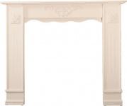 Casa Padrino Landhausstil Shabby Chic Kaminumrandung Antik Weiß 122 x 25 x H. 100 cm - Handgefertigte Deko im Landhausstil