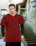 John Nutt Striped Piraten Shirt - Black - Red