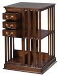 Casa Padrino Luxus Mahagoni Bücherschrank Braun / Grün 49 x 49 x H. 80 cm - Luxus Kollektion