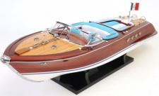 Casa Padrino Luxus Mahagoni Holz Speedboot Riva Aquarama Braun / Mehrfarbig 67, 3 x 20, 3 x H. 22, 9 cm - Handgefertigtes Deko Modellboot