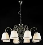 Casa Padrino Barock Decken Kristall Kronleuchter Bronze 81 x H 43 cm Antik Stil - Möbel Lüster Leuchter Hängeleuchte Hängelampe