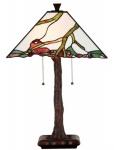 Casa Padrino Luxus Tiffany Tischleuchte Mehrfarbig 41 x 41 x H. 64 cm - Wohnzimmer Deko Accessoires