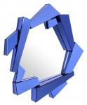 Casa Padrino Luxus Wohnzimmer Spiegel Blau 102 x H. 123 cm - Designer Kollektion