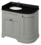 Casa Padrino Waschschrank / Waschtisch mit Granitplatte und 3 Türen 98 x 55 x H. 93 cm