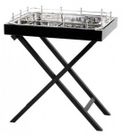 Casa Padrino Designer Luxus Bar Tisch Schwarz Vernickeltes Metall - sehr edel
