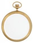 Casa Padrino Luxus Hänge Spiegel Clock Antik Messing schwere Ausführung 28 x 36 cm