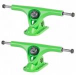 PARIS Longboard Skateboard Achsen V2 Set 180mm / 50° Green Joke (2 Achsen)
