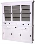 Casa Padrino Landhausstil Küchenschrank 199 x 48 x H. 225 cm - Verschiedene Farben - 2 Teiliger Küchenschrank mit 6 Schiebetüren und 8 Schubladen