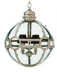 Casa Padrino Luxus Laterne - Luxus Antik Silber Vernickelt Hängeleuchte Durchmesser 50 x H 60 cm