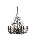 Casa Padrino Barock Decken Kronleuchter Braun Durchmesser 65 x H 60 cm Antik Stil - Möbel Lüster Leuchter Deckenleuchte Hängelampe