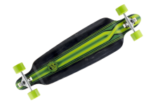 Mindless Complete Longboard Savage III Black/Green Drop Through 39.75 x 10.0 inch - Dropthrough Profi Longboard mit Koston Kugellagern