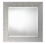 Casa Padrino Wohnzimmer Spiegel Silber 102 x H. 102 cm - Luxus Kollektion