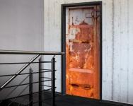 Tür 2.0 XXL Wallpaper für Türen 20017 Container - selbstklebend- Blickfang für Ihr zu Hause - Tür Aufkleber Tapete Fototapete FotoTür 2.0 XXL Vintage Antik Stil Retro Wallpaper Fototapete
