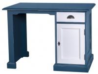 Casa Padrino Landhausstil Schreibtisch Antik Stil Blau / Weiß 110 x 70 x H. 78 cm - Landhausstil Büromöbel