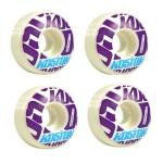 Koston Profi Skateboard Rollen Set 53mm White / Purple Logo Wheels Wheel Set (4 Rollen)