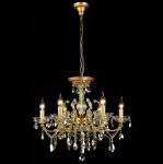 Casa Padrino Barock Decken Kristall Kronleuchter Gold 62 x H 52 cm Antik Stil - Möbel Lüster Leuchter Hängeleuchte Hängelampe