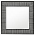 Casa Padrino Wohnzimmer Spiegel in schwarz / weiß 100 x H. 100 cm - Luxus Wandspiegel