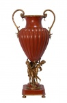 Casa Padrino Barock Porzellan Vase mit 2 Griffen - Luxus Kollektion
