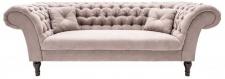 Casa Padrino Chesterfield Sofa in Greige 230 x 90 x H. 80 cm - Designer Chesterfield Sofa
