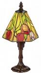 Casa Padrino Luxus Tiffany Tischleuchte / Hockerleuchte Rosen Mehrfarbig Ø 15 x H. 30 cm - Luxus Qualität