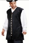 Captain De Lisle Piraten Weste - Black