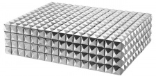 Casa Padrino Luxus Schmuckschatulle / Schmuckkasten mit Deckel Silber 40 x 30 x H. 10 cm - Luxus Qualität