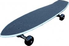 Oldschool Skateboard Cruiser 70s Style Skyblue Mit 125 Randal RII Trucks, 58mm Black Wheels - Longboard Cruiser