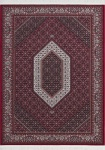 Casa Padrino Luxus Teppich mit Fransen Rot - Verschiedene Größen - Wohnzimmer Deko Accessoires