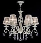 Casa Padrino Barock Kristall Decken Kronleuchter Cream Gold 63 x H 56 cm Antik Stil - Möbel Lüster Leuchter Hängeleuchte Hängelampe