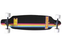 Krown Longboard Komplettboard Skateboard Elite Drop Through Black Longboard Complete mit koston Kugellagern