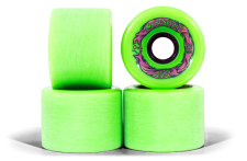 Mindless Voodoo Longboard Wheel Set (4 Rollen) Maji Green 70mm / 78A - Cruiser Skateboard Rollen - Wheels