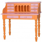 Casa Padrino Landhausstil Schreibtisch Orange / Rosa 109 x 60 x H. 110 cm - Möbel im Landhausstil