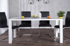 Moderner Design Esstisch Weiß Hochglanz 140 cm von Casa Padrino - Esszimmer Tisch