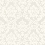 Casa Padrino Barock Viscose Textiltapete / Stofftapete Weiß - 10, 05 x 0, 53 m - Tapete im Barockstil