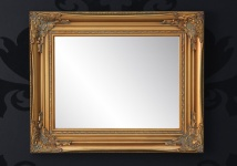 Handgefertigter Barock Wandspiegel Gold Antik, Höhe 55 cm, Breite 45 cm, Tiefe 4 cm - Edel & Prunkvoll