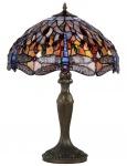 Casa Padrino Tiffany Tischleuchte Bronze / Mehrfarbig Ø 42 x H. 62 cm - Luxus Kollektion