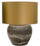 Casa Padrino Luxus Terracotta Tischleuchte Grau / Gold Ø 60 x H. 72 cm - Luxus Möbel