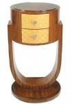 Casa Padrino Art Deco Schubladen Schrank Mahagoni - Handgefertigt aus Massivholz - Nachtschrank Nachttisch Kommode