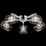 Casa Padrino Barock Decken Kronleuchter Chrom 61 x H 17 cm Modern Stil - Möbel Lüster Leuchter Hängeleuchte Hängelampe