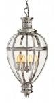 Casa Padrino Luxus Laterne - Luxus Hängeleuchte Nickel Durchmesser 36, 5 x H 81 cm
