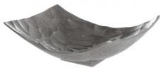 Casa Padrino Luxus Metall Obstschale Silber 28 x 21 x H. 10 cm - Luxus Deko Schale