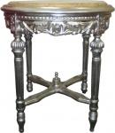 Barock Beistelltisch Silber Rund 53 x 47 cm
