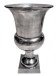 Casa Padrino Antik Stil Vase Aluminium B. 25 cm H. 40 cm - Hotel Dekoration - Barock Blumengefäss Pflanzentopf