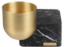 Casa Padrino Luxus Stiftehalter Messing / Schwarz 14 x 14 x H. 10 cm - Büro Accessoires